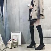 膝上靴 新款瘦瘦靴襪子靴透氣女靴彈力靴過膝長靴高筒靴子長筒靴襪靴  魔法鞋櫃