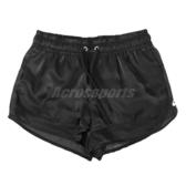 Nike 短褲 NSW Air Shorts 黑 白 女款 膝上 光澤感 運動休閒 【ACS】 CU5521-010