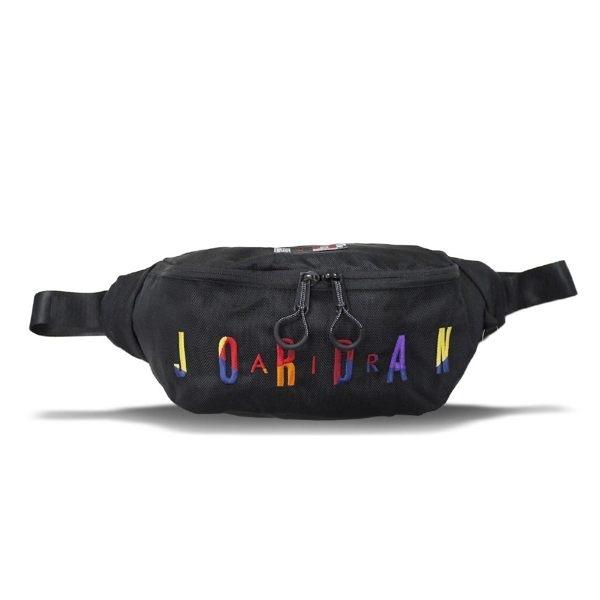 NIKE JORDAN RIVALS BAG 黑 彩字 休閒 小腰包 (布魯克林) 8A0255-K5T