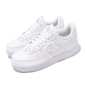 Nike 休閒鞋 Wmns Air Force 1 07 LX 白 彩色 女鞋 撕撕樂 特殊鞋面設計 運動鞋 【ACS】 CJ1650-100