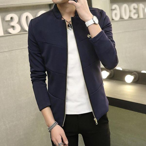 飛行夾克 立領 韓版日系大碼男休閒外套