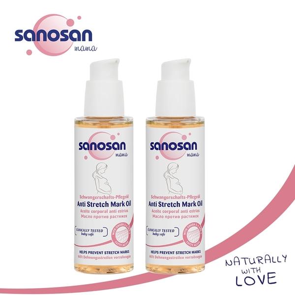 德國sanosan珊諾-S孕女神孕期滋潤護理組(植萃抗紋護理油x2)