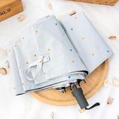 全自動韓國女小清新女摺疊太陽傘晴雨傘兩用簡約森系防曬防紫外線    初語生活