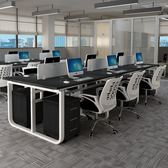 辦公桌 U型職員屏風辦公家具電腦桌椅組合2/4/6人位簡約現代辦公工作桌 JD 玩趣3C