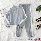 熱賣運動套裝 2021新款秋冬韓版潮學生寬鬆小個子休閒運動套裝女洋氣時尚兩件套 coco