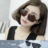 Crystal.MIT台灣製。方形大D字雷朋寶麗萊金屬框偏光太陽眼鏡【f595】*911 SHOP*
