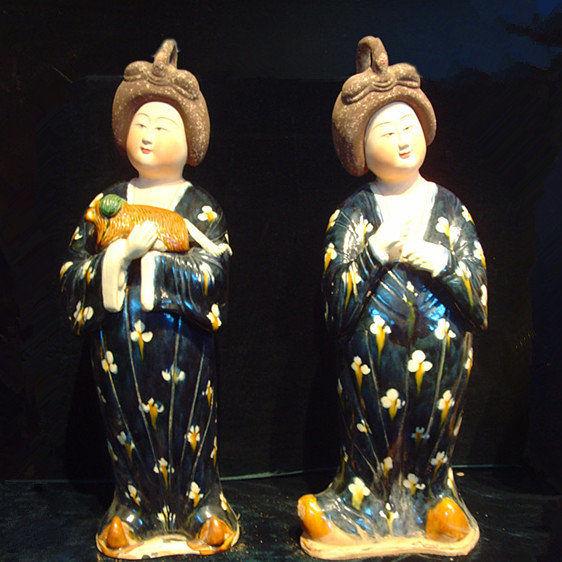 唐三彩胖妞俑 陶瓷 藝術 收藏仿古擺件