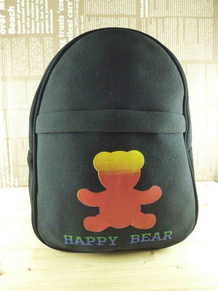 【震撼精品百貨】日本綜合熊_HAPPY BEAR~後背包『黑』