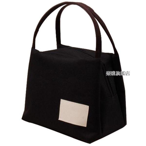 全館88折特惠-帆布手提包便當包保溫飯盒袋牛津布媽咪飯盒包手提袋正韓防水
