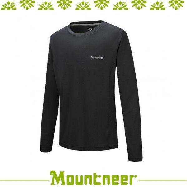 【Mountneer 山林 男透氣排汗長袖上衣《黑》】21P25/長袖/旅遊/內著