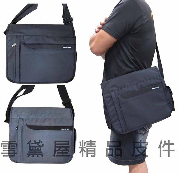 ~雪黛屋~BAIHO 書包大容量隨身肩側包隨身物品專用台灣製造品質保證防水尼龍布可放A4資料夾OH252