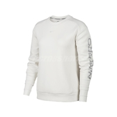 Nike 長袖T恤 Pro Fleece Crew 白 銀 女款 大學T 運動 訓練 【PUMP306】 BV4055-030