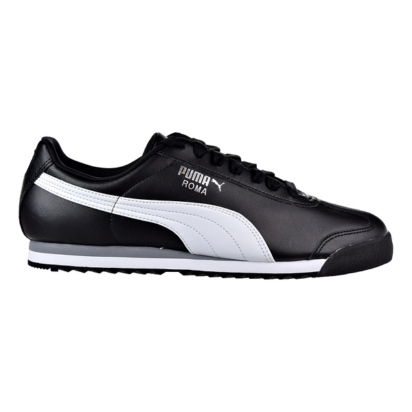 PUMA Roma Basic 男女款黑色復古皮革休閒鞋-NO.35357211