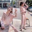 春秋季套裝女2020新款小個子休閒針織職業兩件套洋氣減齡時尚褲子 依凡卡時尚