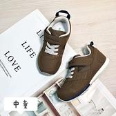 《7+1童鞋》中童 Moonstar TSUKIHOSHI 透氣布面 機能鞋 運動鞋 慢跑鞋 E427 咖啡色