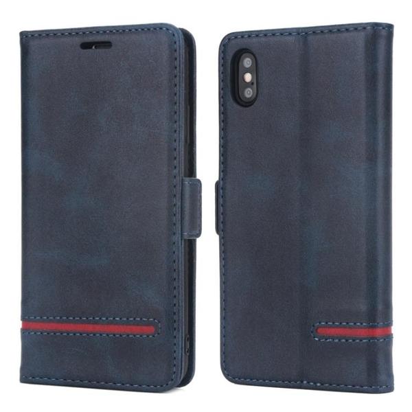 手機配件 適用iPhone X新款拼接簡約商務手機套翻蓋插卡支架款蘋果XS保護套手機殼 手機套 皮套