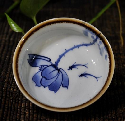 杯青花瓷個人茶杯陶瓷功夫茶具