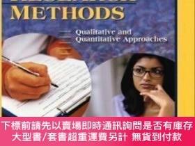 二手書博民逛書店Social罕見Research Methods: Qualitative and Quantitative Ap