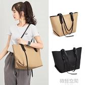 大包包2021新款托特包簡約大容量女包時尚子母購物袋單肩手提包潮