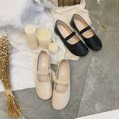 英倫風圓頭娃娃鞋女韓版淺口平底單鞋學院風懶人復古學生鞋 黛尼時尚精品