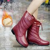 雨鞋女水鞋秋冬中筒加絨四季防水鞋防滑保暖可拆卸棉雨靴女士膠鞋 蘿莉新品