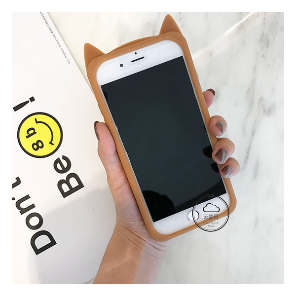 【萌萌噠】iPhone 6/6S (4.7吋)創意可愛俏皮款 豹紋貓咪保護殼 全包邊矽膠軟殼 手機殼 手機套 外殼