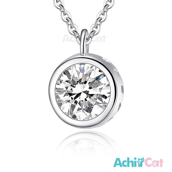 925純銀項鍊 AchiCat 閃亮單鑽