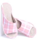 (e鞋院)KENROLL防滑減壓格子室內拖(買一雙就送一雙珊瑚絨暖冬保暖襪子(隨機出貨)