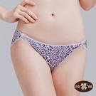 【岱妮蠶絲】LA0028F純蠶絲42針70G雙蝴蝶結低腰高衩內褲(紫豹紋)