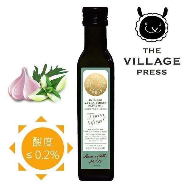 【南紡購物中心】【壽滿趣- 紐西蘭廚神系列】頂級冷壓初榨義式香蒜風味橄欖油(250ml 單瓶散裝)