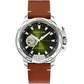Giorgio Fedon 1919 TIMELESS IX系列開芯機械腕錶 GFCK003 綠色