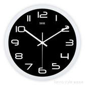 歐式時尚掛鐘客廳辦公靜音時鐘掛錶簡約創意石英鐘錶   YDL