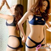 情趣睡衣專賣店推薦  【Gaoria】綑綁系 兩截式 露半球緊縛死庫水 情趣泳衣