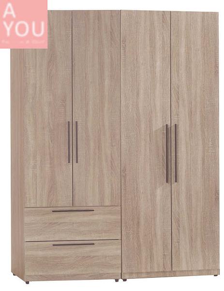 凱文4.6尺淺灰橡組合衣櫃(大台北地區免運費)【阿玉的家2020】