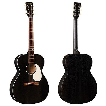 Martin 000-17E Black Smoke 嚴選錫特卡雲杉頂部 桃花心木背側面板電木吉他 - 拾音器