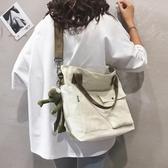帆布大包包女新款chic慵懶學院風單肩斜跨包簡約 『洛小仙女鞋』