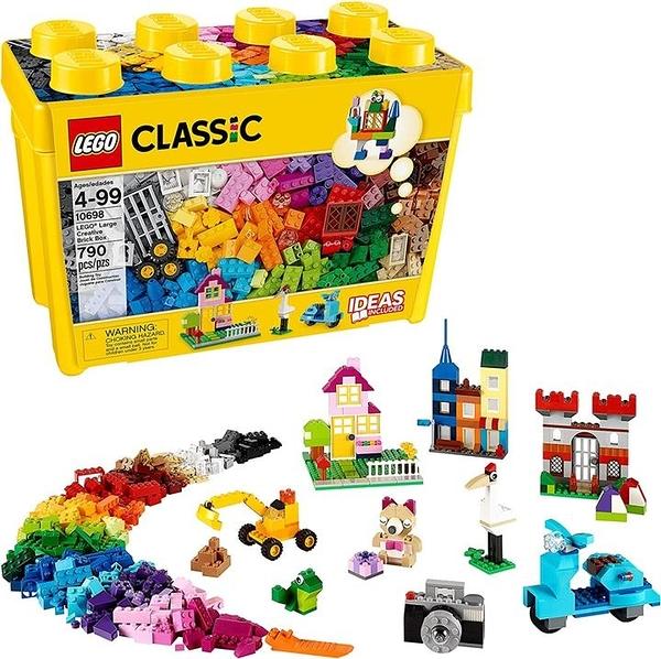 LEGO 樂高 經典大號創意積木盒10698打造屬於您自己的創意玩具(790件)
