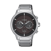 【Citizen星辰】GENT'S關鍵時機光動能鋼帶腕錶-黑銀款/CA4400-88E/台灣總代理公司貨享兩年保固