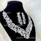 耀眼炫目   新娘項鍊套組-耳環(耳夾式)[10030]尾牙舞台宴會飾品
