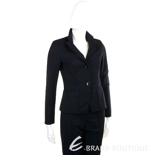 SCHUMACHER 深藍色皺褶設計西裝外套 1040014-34