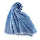 ARMANI Collezioni經典大字母LOGO流蘇披肩圍巾(土耳其藍)102813