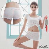 運動型內褲 簡單生活無縫中腰平口四角安全褲S-XL(白) 樂樂