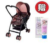 【贈貝恩保濕調理乳液】 愛普力卡 Aprica Karoon 629 超輕量雙向平躺型嬰幼兒手推車(浪漫粉紅) 6450元
