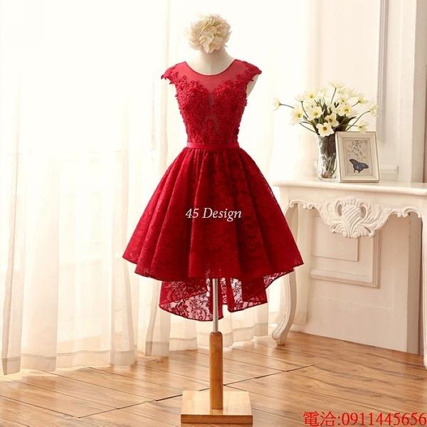 (45 Design)  7天到貨 禮服婚紗晚禮服短款晚宴年會 結婚小禮服短裙 大小顏色款式都能訂製5
