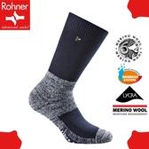 【Rohner 瑞士 fibre tech 中高筒美麗諾羊毛襪《深海軍藍》】603001/保暖/耐磨/吸濕/排汗/抗臭/彈性襪