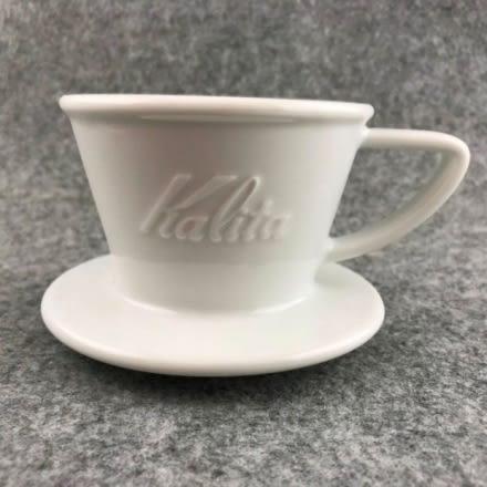 新款 KALITA 波佐見燒 白色陶瓷#155 蛋糕濾杯 1-2人用 搭配蛋糕濾紙 手沖濾杯 波浪型