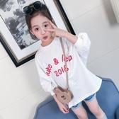 女童七分袖t恤2018春季新款洋氣中大童潮9歲
