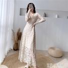 很仙的蕾絲洋裝高端大氣晚禮服長款氣質性感生日派對顯瘦魚尾裙 有緣生活館