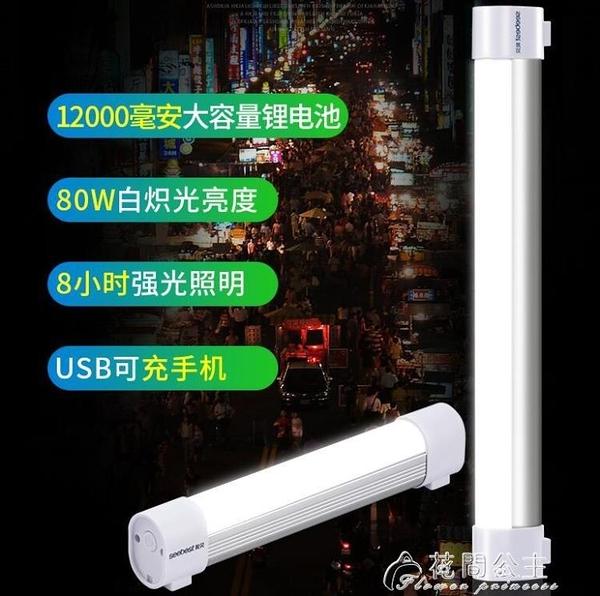 USB燈-視貝led應急燈充電燈泡家用行動停電照明超亮USB夜市神器擺地攤燈 花間公主