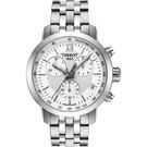 TISSOT 天梭 PRC200 三眼計時手錶-銀/42mm T0554171101800